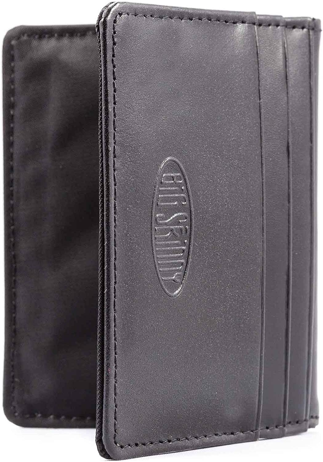 Big Skinny New Yorker Leather ID Slim Wallet, Holds Up to 24 Cards