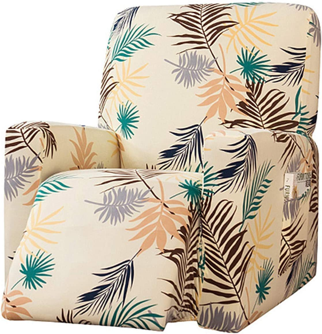YUENA CARE Stretch Recliner Slipcovers National uniform free shipping Chair Printed Covers for Gifts