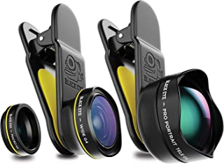 Phone Lenses by Black Eye    Travel Kit G4 Lens Compatible with iPhone, iPad, Samsung Galaxy, and All Camera Phone Models