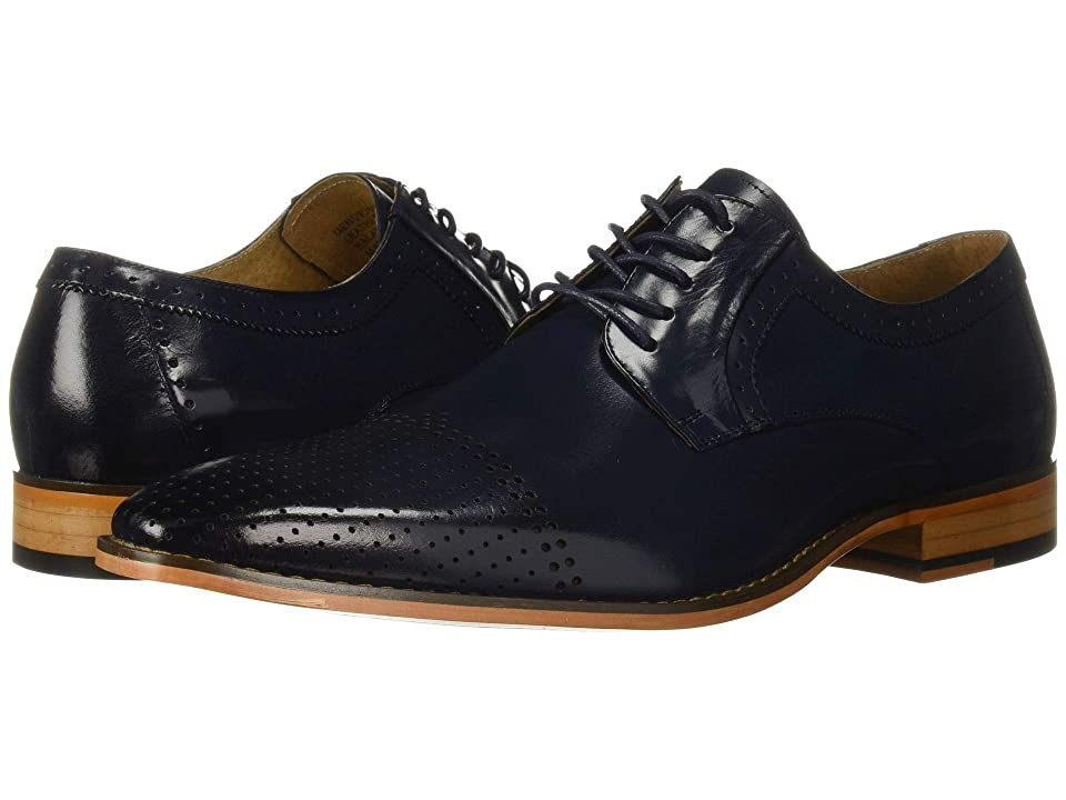 Stacy Adams Sanborn Cap Toe Oxford (Cobalt) Men