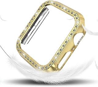 ZAALFC Funda de Diamantes para Mujeres para la Serie de Relojes de Apple 4 40mm 44mm para Cubierta Protectora de iWatch PC...