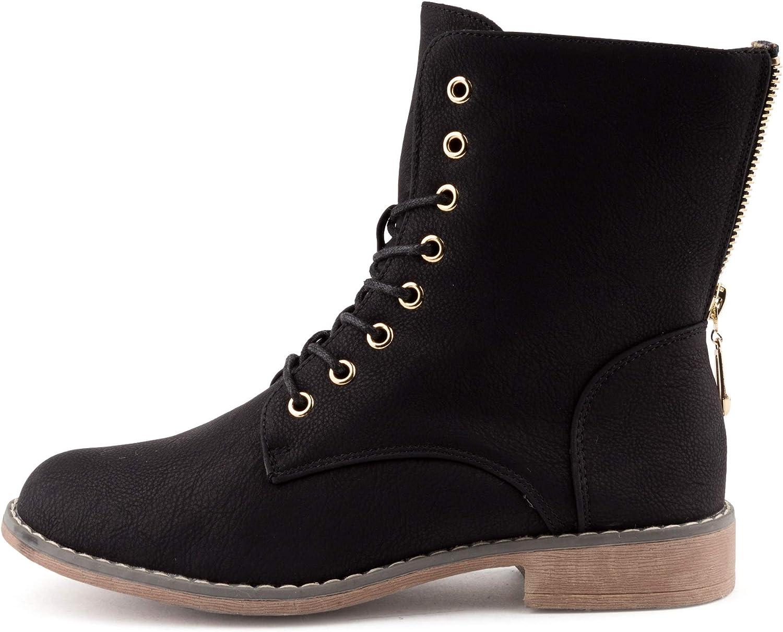 Neu Damen Schnür Stiefel Stiefeletten Biker Boots Warm Gefüttert 1597 Schuhe