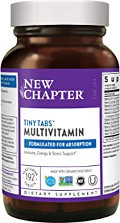 New Chapter Tiny Tabs Multivitamin with Fermented Priobiotics + Whole Foods + Vitamin D3 + B Vitamins + Organic Non-GMO In...