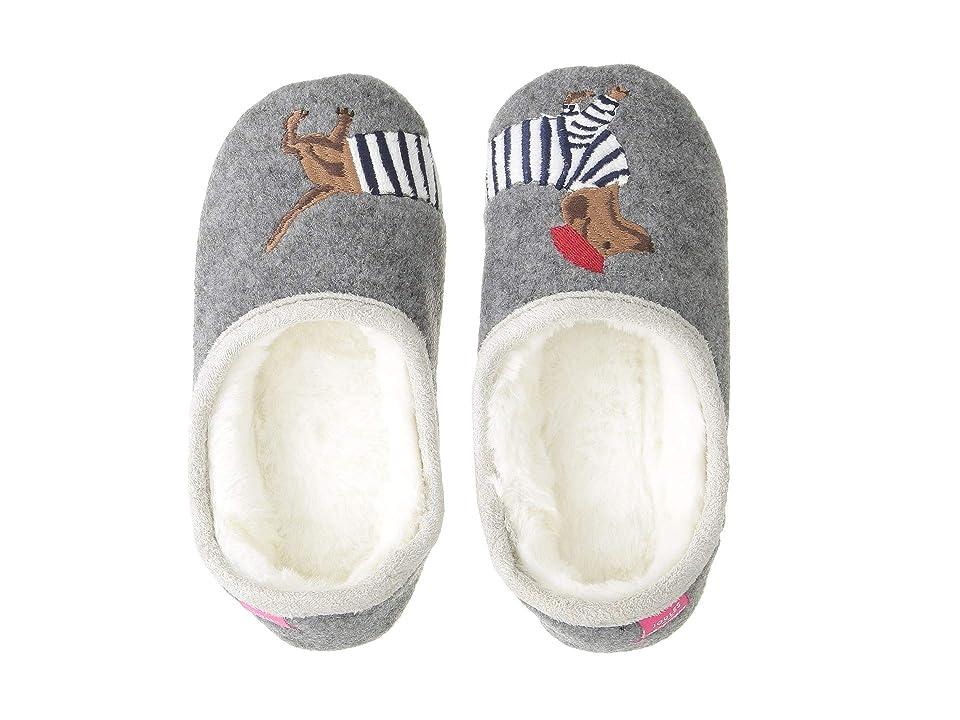 Joules Kids Slip-On Felt Mule with Applique Design (Toddler/Little Kid) (Stripe Dog) Girls Shoes