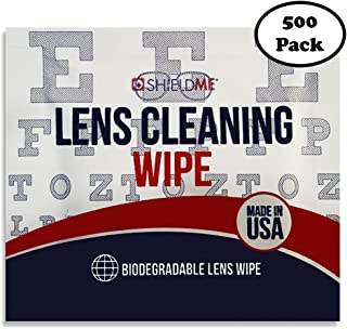 Pre-Moistened Lens Cleaning Wipes Cleans Without Streaks for Eyeglasses Sunglasses Camera Lenses and Portable Devices Biodegradable Lens Wipes Bulk 500 Pack