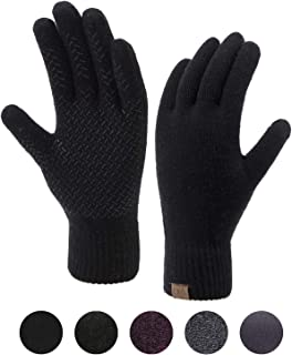 Winter Touchscreen Gloves for Men & Women 3 Fingers...