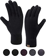 Winter Touchscreen Gloves for Men & Women 3 Fingers Dual-layer Touch Screen Warm Lined Anti-Slip Knit Texting Glove 2 Size