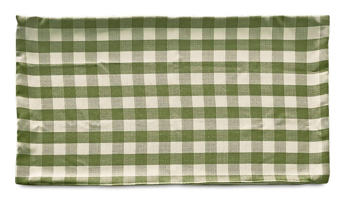 長ざぶとんカバー 約68×120cm 大判(東北判) ナチュラルチェック グリーン