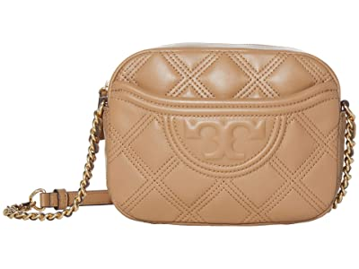 Tory Burch Fleming Soft Camera Bag (Tiramisu) Handbags
