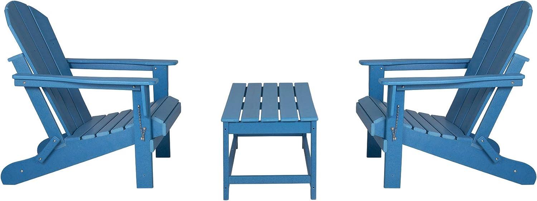 WestinTrends 3-Piece Bistro Seasonal Wrap Introduction Set Outdoor w Patio Adirondack Popular brand in the world Chair