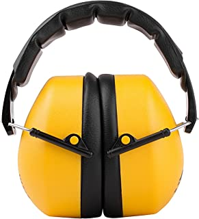 TR Industrial Schutz Compact Foldable Ear Muffs with Soft Adjustable Headband, NRR = 34dB, CE Approved, ANSI S12.42/S3.19, Yellow, Black