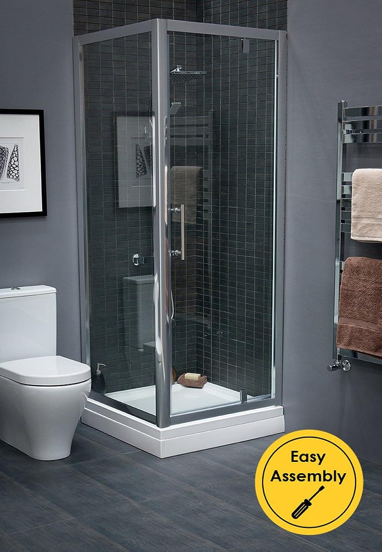 Aquariss 760 x 1900mm Pivot Door Enclosure 6mm Glass Silver Frame