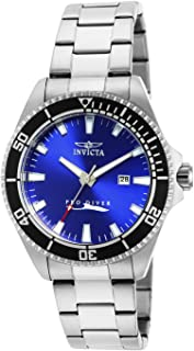 Men's 15184SYB Pro Diver Blue Dial Stainless Steel Watch with Impact Case