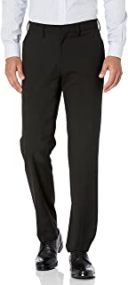 Haggar Men's Solid Gab 4-Way Stretch Straight Fit Flat Front Dress Pant Dress Pants