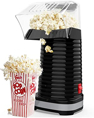 Hot Air Popcorn Maker Machine, Popcorn Popper for Home, ETL Certified, BPA-Free, No Oil, Healthy Snack for Kids Adults, Remov
