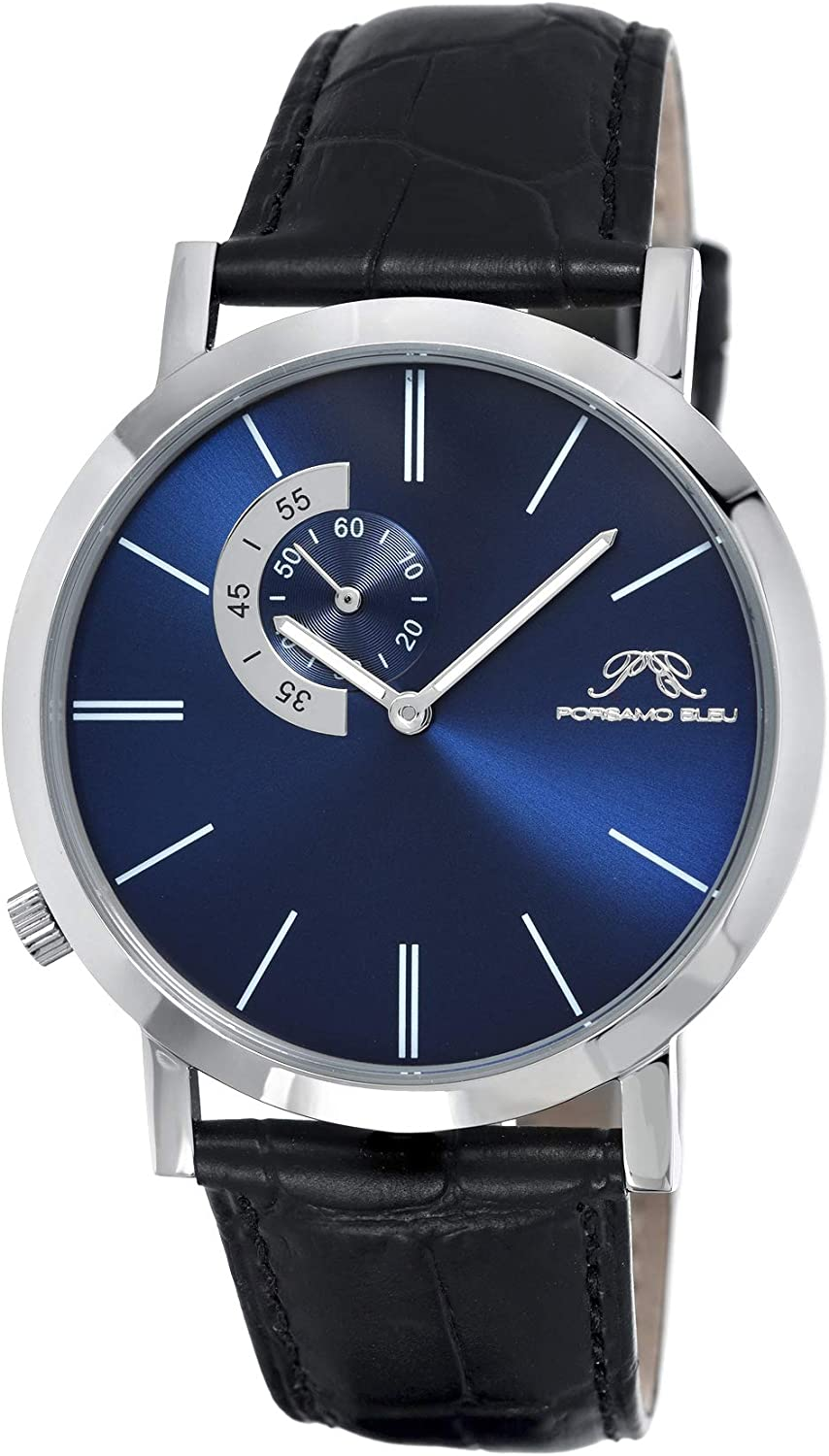 Porsamo Bleu Luxury Parker Max 48% OFF Men's with Watch Steel case Oklahoma City Mall Stainless