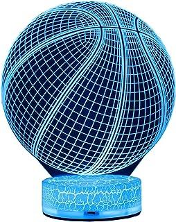 AZALCO 3D Illusion LED Night Lamp Basketball with...