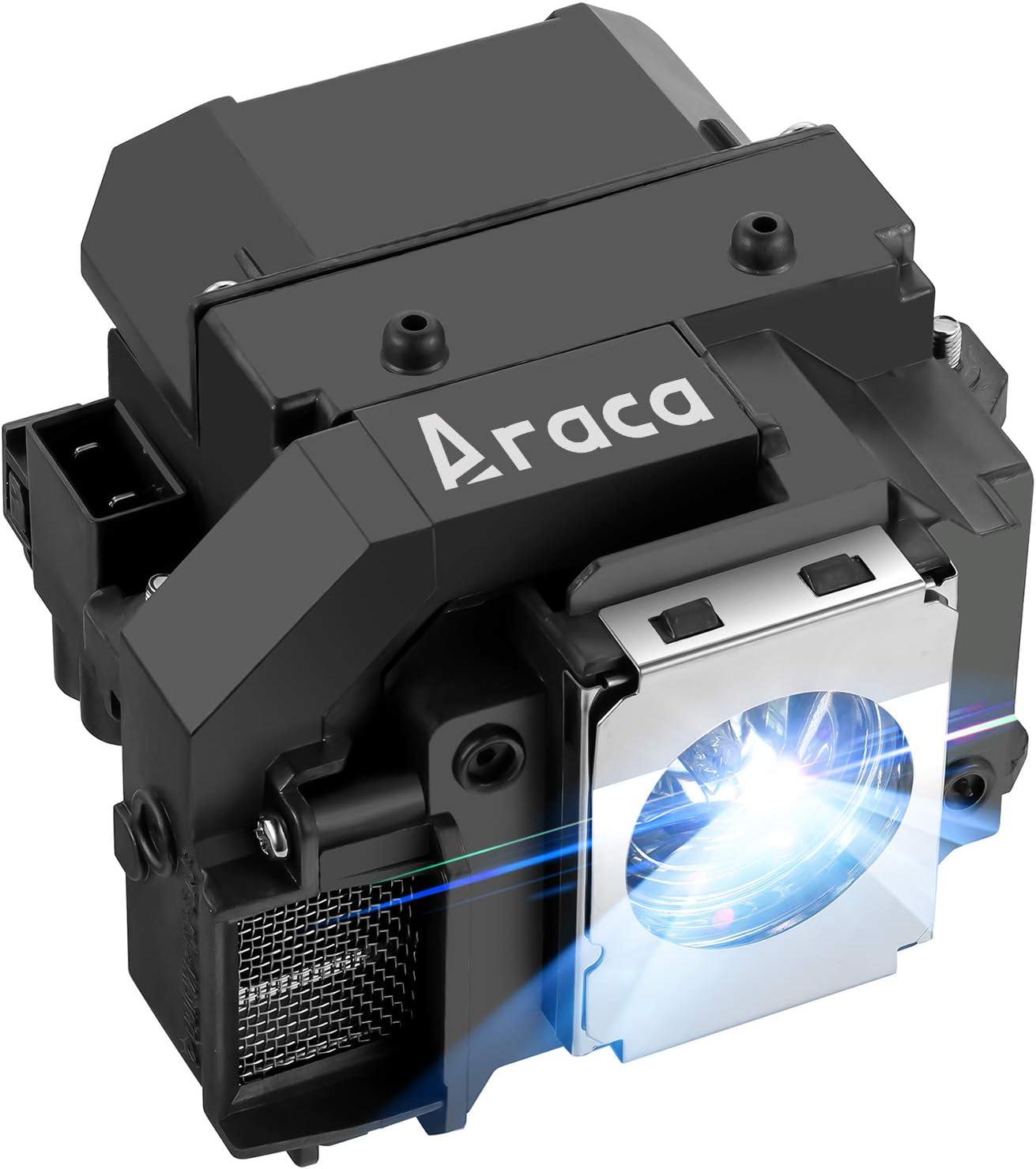 Araca ELPLP54 /ELPLP55 Replacement Projector Lamp with Housing for Epson EX71 EX51 H331A EX31 H309A H310C H328A H328B PowerLite S8+ S7 705HD H335A EB-W8D PowerLite Presenter Lamp