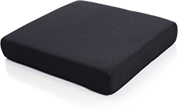 Milliard Memory Foam Seat Cushion Chair Pad 18 x 16 x 3in. with Washable Cover, for..