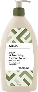 Amazon Brand - Solimo Daily Moisturizing Oatmeal Lotion, Fragrance Free, 18 Fluid Ounces