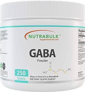 NutraBulk GABA Powder 250 Grams Bottle