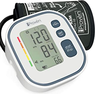 Home Blood Pressure Monitor - Approved for Upper Arm Use - Digital Blood Pressure Machine - Accurate Blood Pressure Cuff Standard Size - BP Cuff - BP Monitor Arm - Recommended by iProvèn