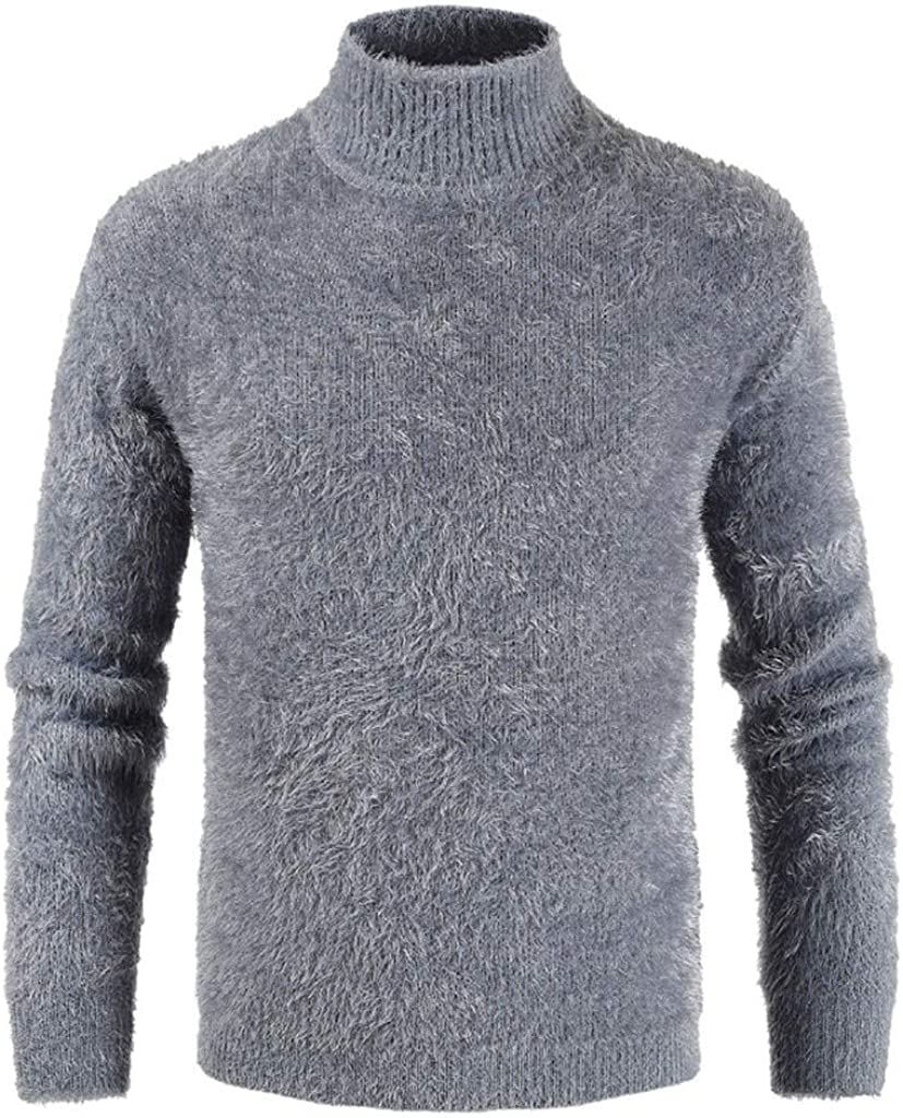 MODOQO Men's Knitted Pullover Slim Fit Turtleneck Sweater Long Sleeve Pullover