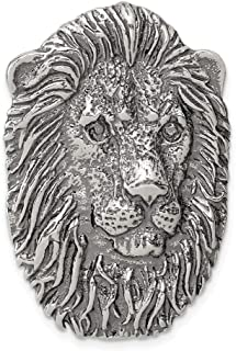 925 Sterling Silver Lion Head Pendant Charm Necklace Animal Tiger Man Fine Jewelry Gift For Dad Mens For Him