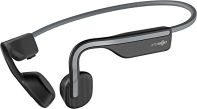 Aftershokz AS660SG OpenMove Open-Ear Wireless Waterproof Bone Conduction Headphone, Slate Grey, One Size