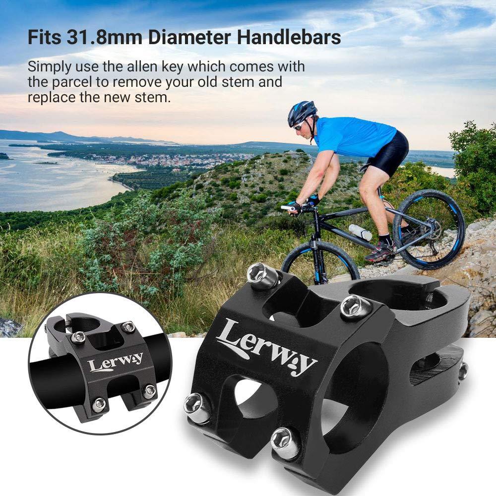 LERWAY 31.8mm MTB Vástago de Manillar para Ciclismo Reemplazo de Vástago de Potencias para Bicicleta de Carretera, de Montaña: Amazon.es: Deportes y aire libre