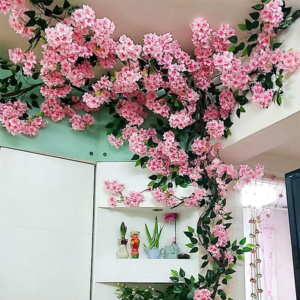 JINWEIH Home Decor Artificial Cherry New York Mall Blossom Pink Flower store