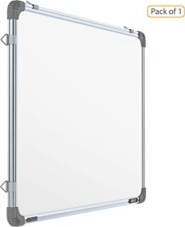 Pragati Systems® Genius Melamine (Non-Magnetic) Whiteboard for Office, Home and School (GWB90120), Lightweight Aluminium Frame, 3x4 Feet (Pack of 1)
