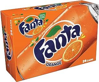 Fanta Orange Soda Fruit Flavored Soft Drink, 12 fl oz, 24 Pack