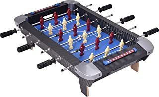 """Giantex 28"""" Foosball Table Set Soccer Competition Tabletop for Game Room Leisure Sports 18 Players Durable Steel Rods Easy Assembly Foosball Tables with 2 Footballs"""