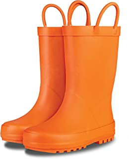 Elementary Collection - Premium Natural Rubber Rain Boots with Matte Finish for Toddlers and Kids