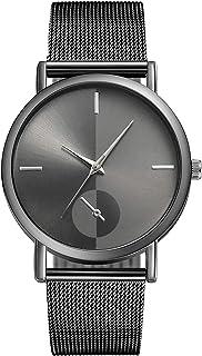 ZA23-G Korean Casual Watch Men and Women Waterproof Luxury Watches Date Quartz Clock Alloy Mesh Belt Watches