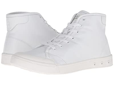 rag & bone Standard Issue Leather High Top (White) Men