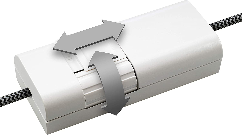 EHMANN 2120x0700 Schnurdimmer T21.07 schwarz Phasenanschnitt 7-110W//VA 50Hz Leistung: LED 3-35W 230V