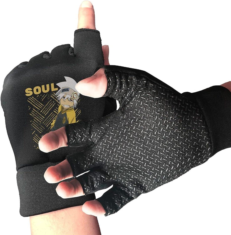 Soul Eater Evans Knitted Mittens Gloves Stretchy Warmer Fingerless Non Slip Gloves For Unisex
