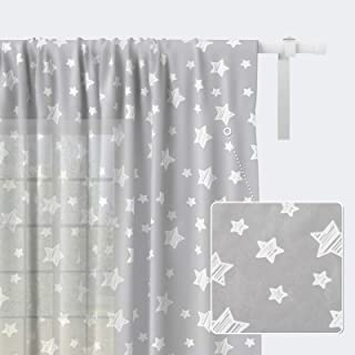 Kids Curtains for Living Room, Kids Room Sheer Curtains...