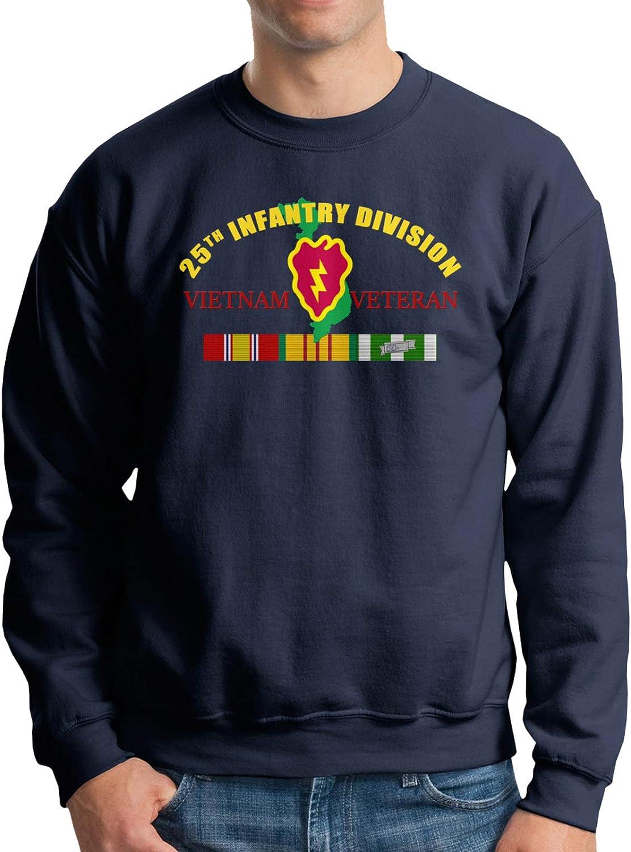 Excellence 25th Infantry High order Division Vietnam Veteran Crewneck Fle Cotton Men's