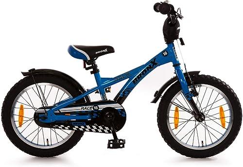 Bachtenkirch Kinderfürrad 16 Zoll Bronx Race blau Seitenst er 582-BX-13