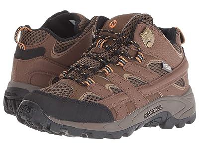 Merrell Kids Moab 2 Mid A/C Waterproof (Little Kid) (Earth) Boys Shoes