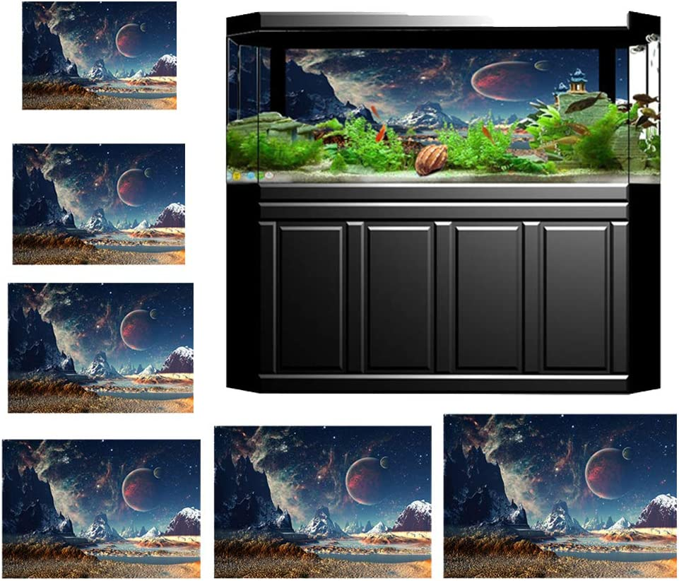 homozy PVC Fish Tank Background Adhesive Underwater Forest Tank Background Poster Backdrop Decoration Paper