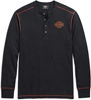 Men's Eagle Henley, Black