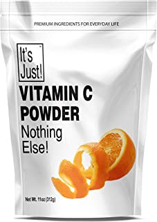 It's Just - Vitamin C Powder, 100% Pure Ascorbic Acid, Food Grade, Immune Support, Homemade Cosmetics (11oz)