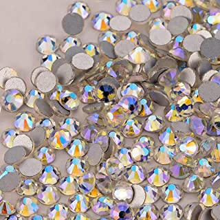 Famleaf Clear Crystal Glass Stones Nail Rhinestones Non-hotfix Flatback Rhinestone For Nails Art Makeup Clothes (SS16, Starry sky)