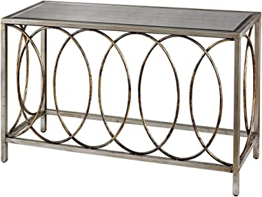 Sterling Home Rings Mirrored TOP console table, Multicolor