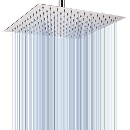 """HotelSpa 12/""""Stainless Steel Rainfall Shower Head with Solid Brass pressure boost"""