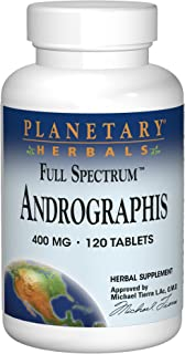 Planetary Herbals Full Spectrum Andrographis 400mg Support Healthy Digestive, Cardiovascular & Unrinary Systems - Support ...